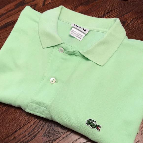 af14c795a Lacoste Shirts | Mens Classic Pique Polo Silex Green Sz 5 | Poshmark